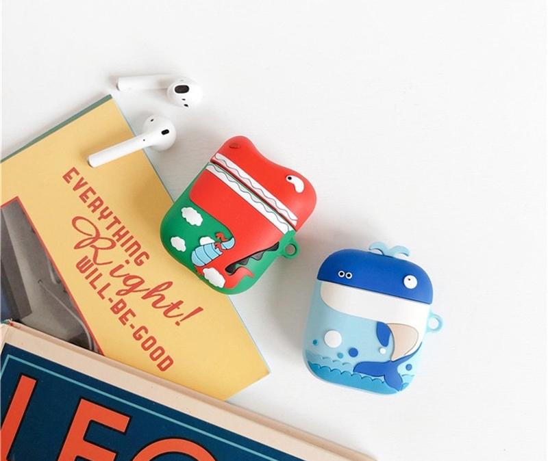恐龙鲸鱼AirPodsA耳机套苹果蓝牙无线保护套个性创意情侣防摔日韩